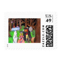 Halloween Party Ghost Headless Horseman Postage