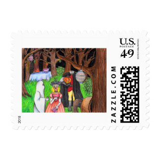 Halloween Party Ghost Headless Horseman Postage Stamp