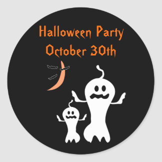 Halloween Party Ghost Stickers