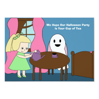 Halloween Party Ghost Tea Party Customizable Card