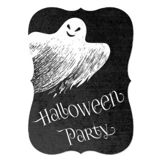 Halloween Party - Ghostly Ghost Card