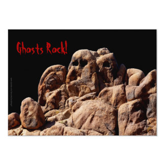 Halloween Party Ghosts Rock Invitation