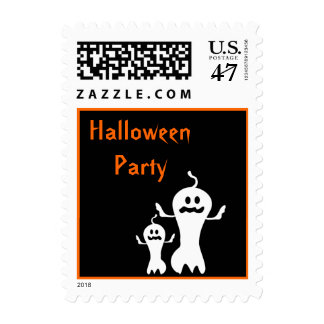 Halloween Party Ghosts Stamp