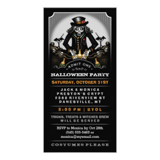 Halloween Party Ghoulish Fun Invite Ticket