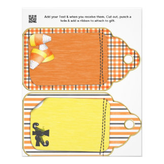Halloween Party gift or favor Bag Tags Flyer