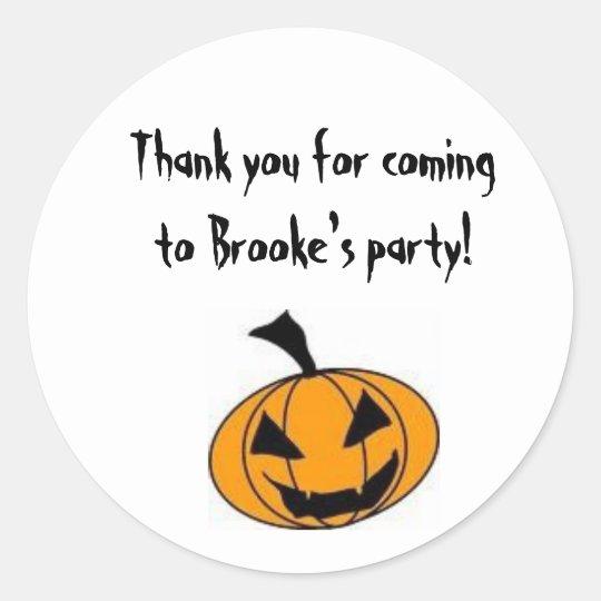 Halloween Party Goody Bag Label