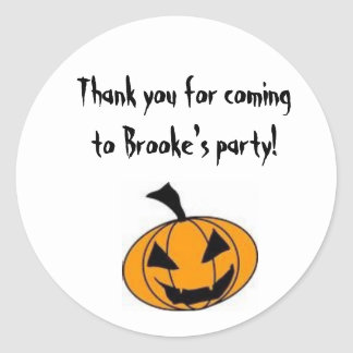 Halloween Party Goody Bag Label Classic Round Sticker