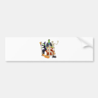 Halloween party group bumper stickers