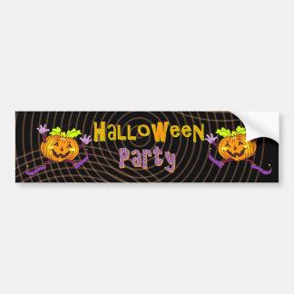 Halloween Party Happy Pumpkin Bumper Sticker