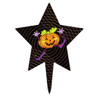 Halloween Party Happy Pumpkin Cake Topper