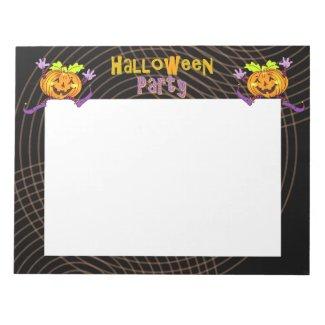 Halloween Party Happy Pumpkin Notepad