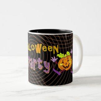 Halloween Party Happy Pumpkin Two-Tone Coffee Mug
