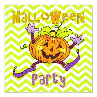 Halloween Party Happy Pumpkins Card