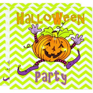 Halloween Party Happy Pumpkins Invitation