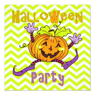 Halloween Party Happy Pumpkins Custom Invite