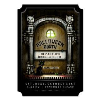 Halloween Party Haunted Door Invitation