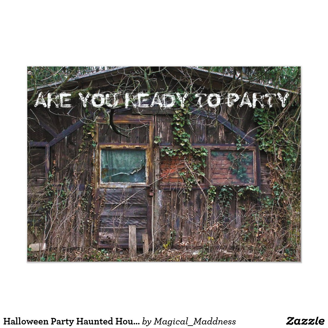 Halloween Party Haunted House Invitation