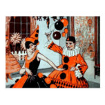 Halloween Party in Orange and Black Post Card