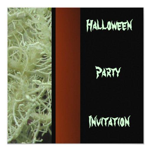 """Halloween Party Invitation 5.25"""" Square Invitation Card"""