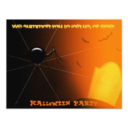 "Halloween Party Invitation 4.25"" X 5.5"" Invitation Card"