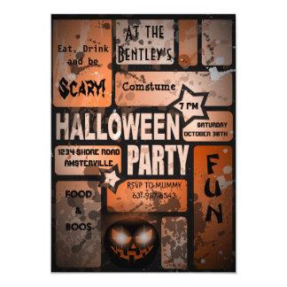 "Halloween Party Invitation 5"" X 7"" Invitation Card"