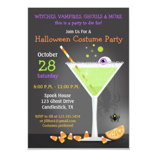 Halloween Party 5x7 Paper Invitation Card