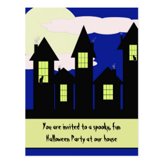 halloween party invitation - 2 styles available postcard