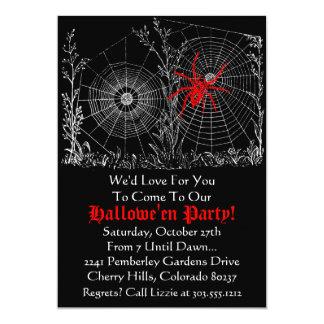 Halloween Party Invitation - Antique Spider Web