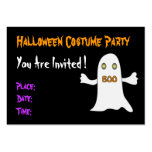 Halloween party - Invitation Large Business Cards (Pack Of 100)