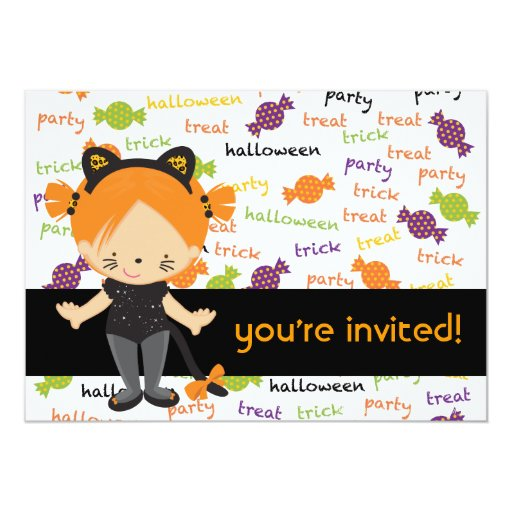 Halloween Party Invitation (candy mix)