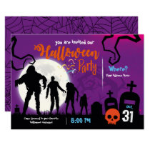 HALLOWEEN PARTY INVITATION CEMETERY