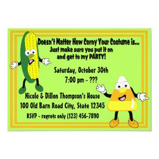 Halloween Party Invitation/ Corny Card