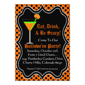 Halloween Party Invitation - Eat Drink & Be Scary