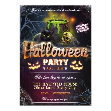 Halloween Themed Halloween Party Invitation Fully Customisable