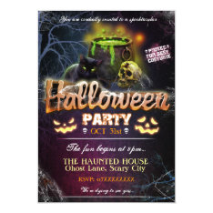 Halloween Party Invitation Fully Customisable at Zazzle