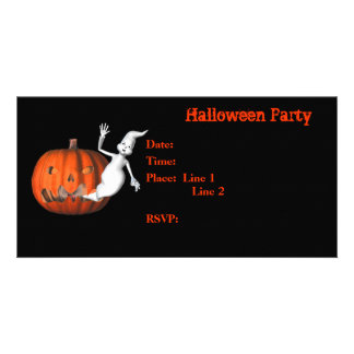 Halloween Party Invitation Ghost Pumpkin Card