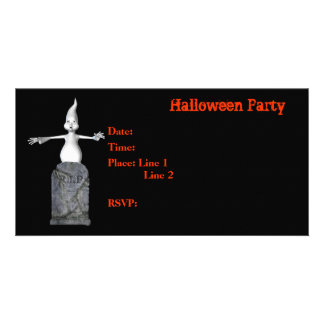 Halloween Party Invitation Ghost Tombstone Card