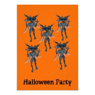 Halloween Party Invitation Gremlin Gang