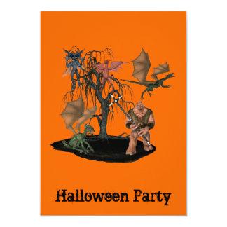 Halloween Party Invitation Gremlins Goblins