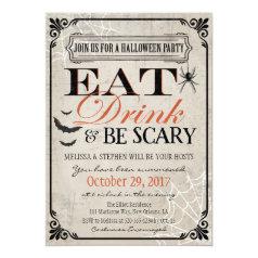 Halloween Party Invitation, Halloween Birthday Invitation