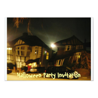 Halloween Party Invitation - haunted house