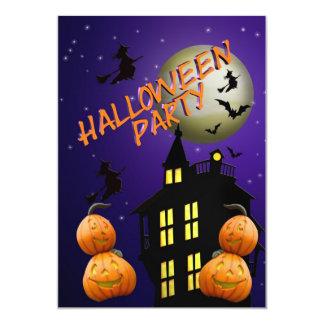 Halloween Party Invitation Haunted house