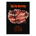 Halloween Party Invitation - Heart Monster