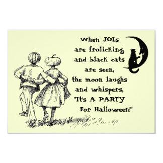 Halloween Party Invitation JOLs Black Cat Moon
