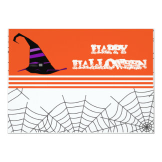 Halloween Party Invitation Orange & Black