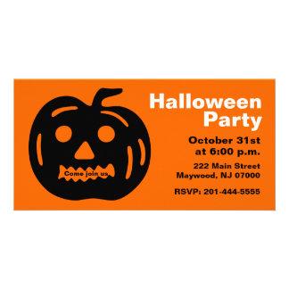 Halloween Party Invitation Photo Card 3
