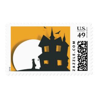Halloween Party Invitation Postage