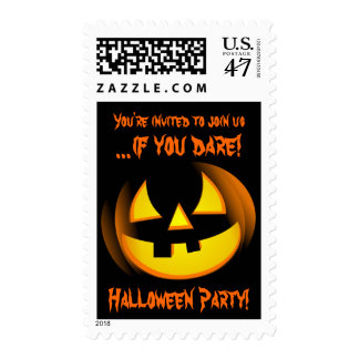 Halloween Party Invitation Postage Stamps