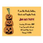 Halloween Party Invitation Postcards
