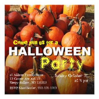 Halloween Party Invitation Pumpkin Patch